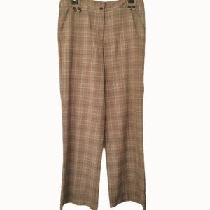 Ninety plaid trousers high waist large leg